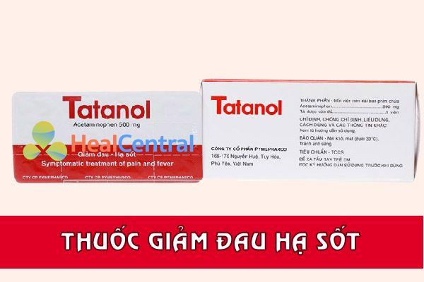 Thuốc giảm đau hạ sốt Tatanol 500mg