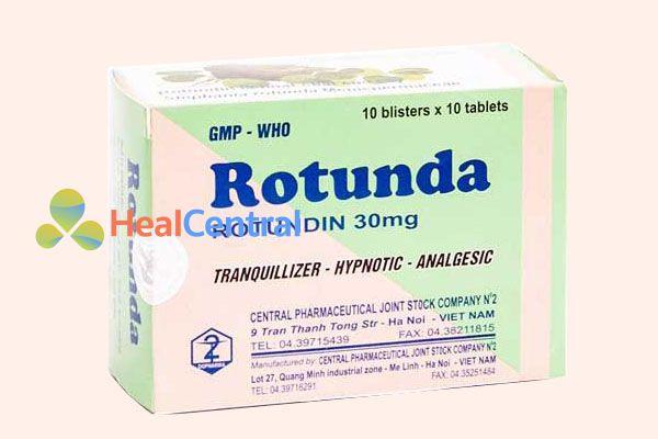 Rotunda có tác dụng an thần gây ngủ