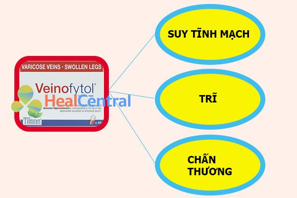 Thuốc Veinofytol được chỉ định trong một số trường hợp