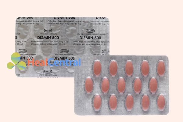 Vỉ thuốc Dismin 500mg