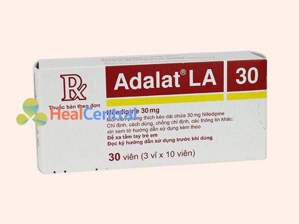 Thuốc Adalat 30mg bào chế ở dạng viên nén