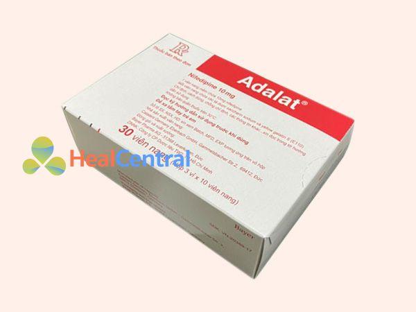 Thuốc Adalat 10mg bào chế ở dạng viên nang