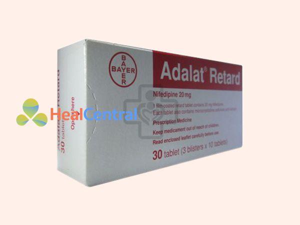 Thuốc Adalat sản xuất bởi Bayer