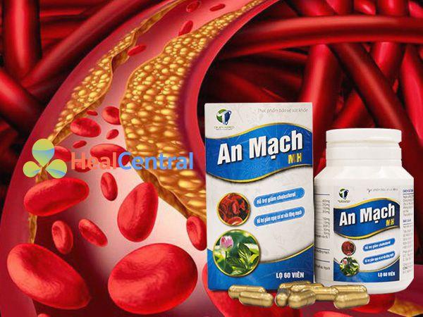 An Mạch MH - hỗ trợ điều hòa lượng mỡ trong máu