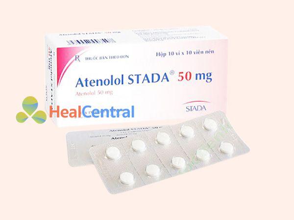 Hình ảnh hộp thuốc Atenolol 50mg