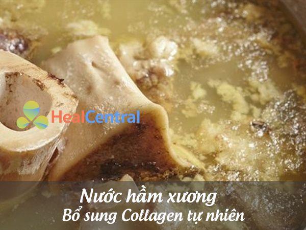 Nước hầm xương - bổ sung thêm Collagen tự nhiên