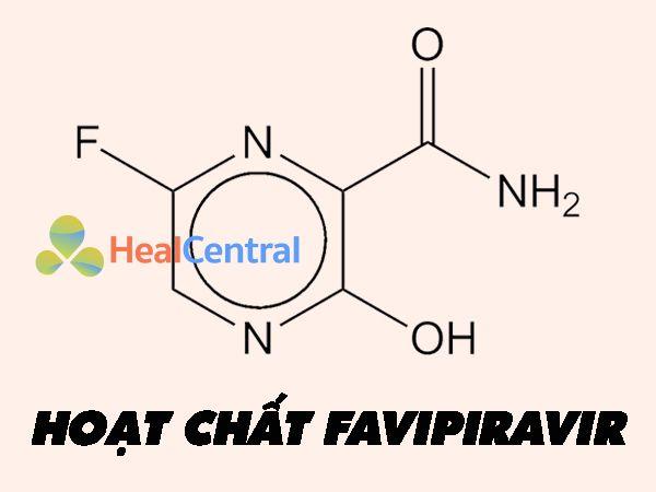 Hình ảnh hoạt chất Favipiravir được thử nghiệm điều trị Sars-Cov-2