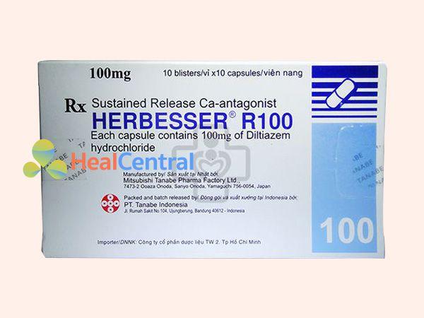 Hình ảnh hộp thuốc Herbesser 100mg