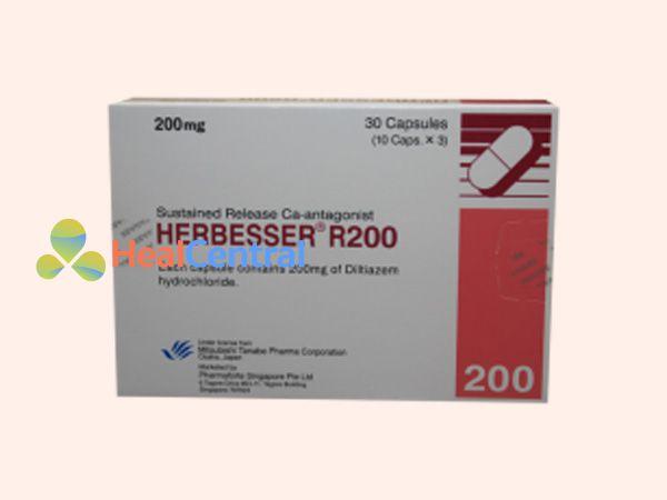 Hình ảnh hộp thuốc Herbesser 200mg