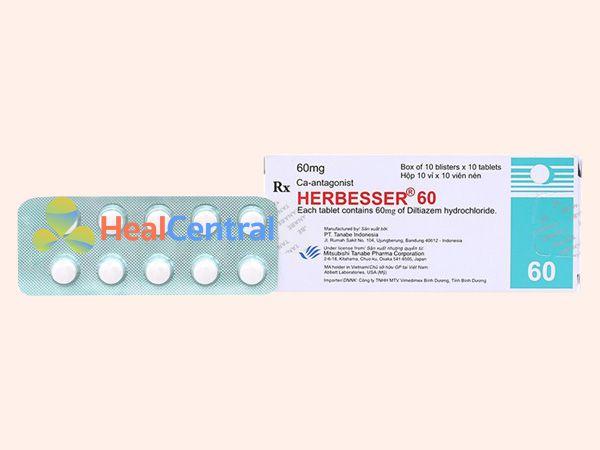 Hình ảnh hộp thuốc Herbesser 60mg
