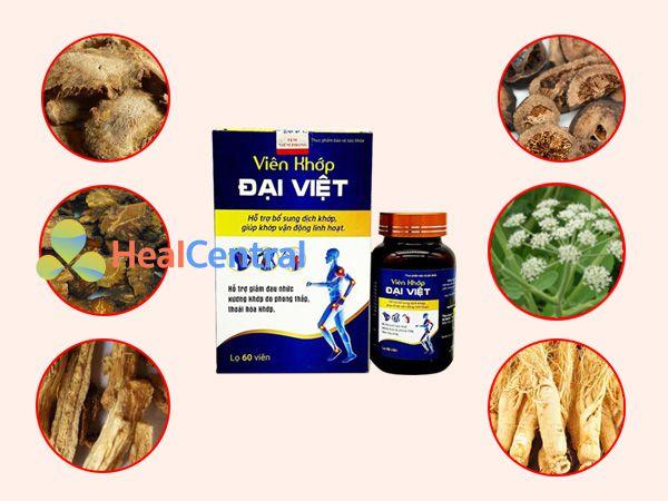 Các thành phần thảo dược có trong Viên khớp Đại Việt