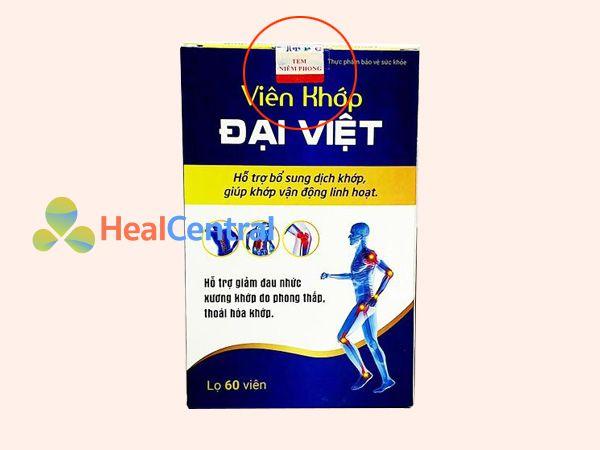 Tem chống giả của Viên khớp Đại Việt