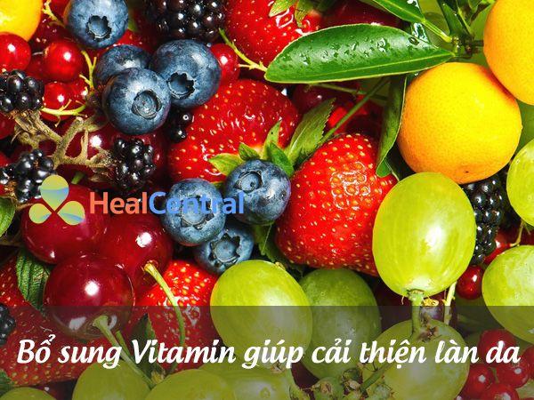 Bổ sung vitamin rất tốt cho da