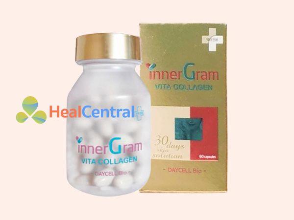 Viên uống trị nám trắng da Inner Gram Vita collagen
