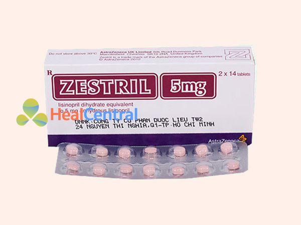 Thuốc Zestril 5mg bào chế dạng viên nén