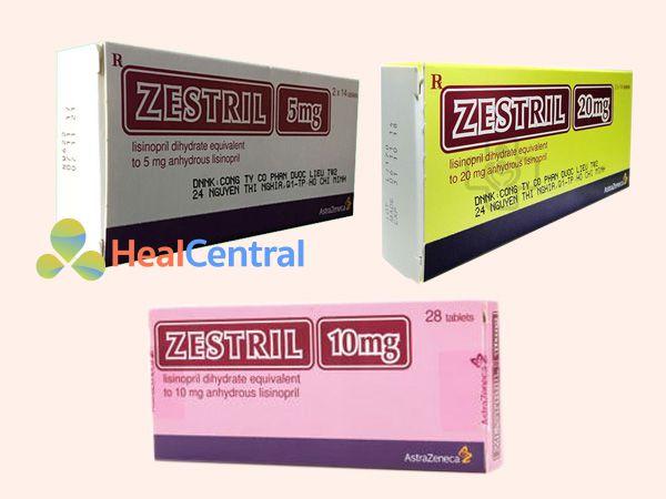 Các dạng bào chế của thuốc Zestril