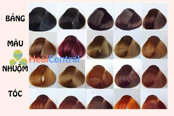 Bảng màu thuốc nhuộm tóc đầy đủ