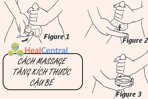 Cách massage làm to dương vật