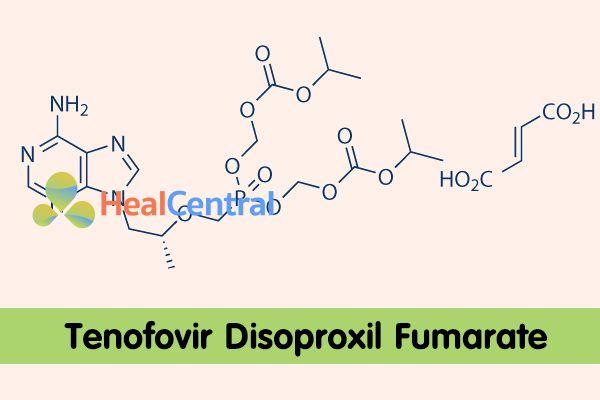 Công thức hóa học của Tenofovir Disoproxil Fumarate