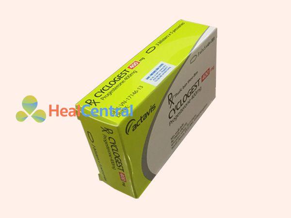 Thuốc Cyclogest chứa thành phần Progesterone