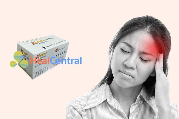 Đau đầu là tác dụng phụ thường gặp nhất khi sử dụng thuốc Keppra