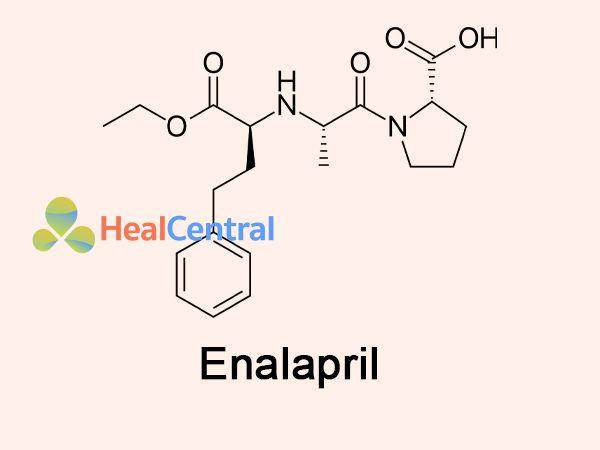 Công thức hoạt chất Enalapril