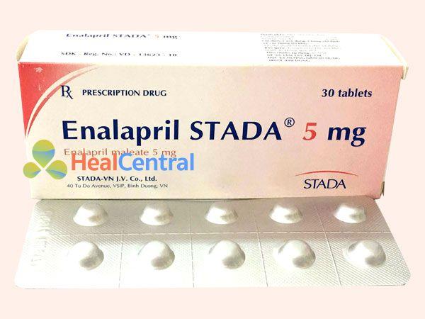 Hình ảnh Enalapril 5mg Stada mặt trước