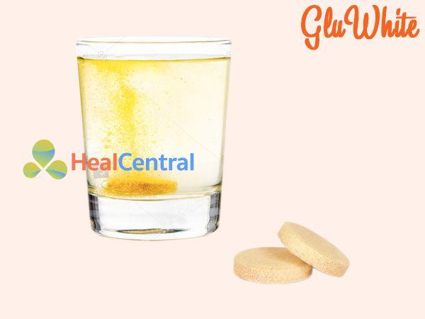 Viên sủi trắng da Gluwhite được dùng theo đường uống