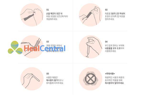 Cách sử dung Inner Gel của Hàn Quốc