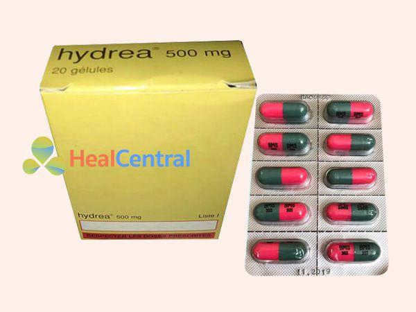 Mỗi hộp thuốc Hydrea 500 mg có 20 viên