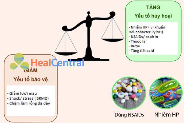 Nguyên nhân gây loét dạ dày-tá tràng do HP và NSAIDs