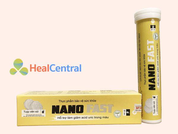 Mỗi hộp viên sủi Nano Fast có 20 viên