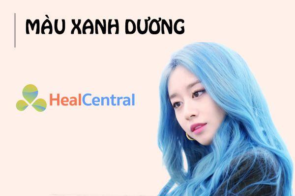 Thay đổi phong cách với tóc màu xanh dương