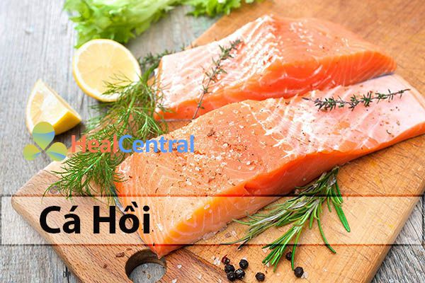 Cá hồi bổ xung chất dinh dưỡng cần thiết giúp cho đôi mắt sáng khỏe
