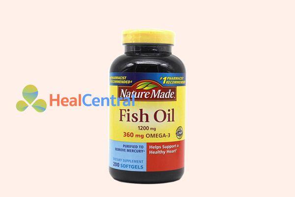 Viên uống Dầu Cá Omega 3 Nature Made Fish Oil 1200mg