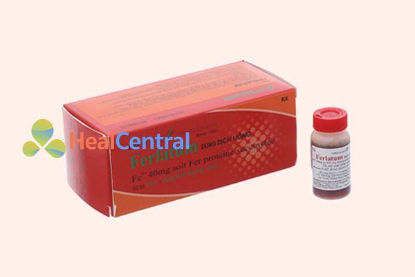 Thuốc Uống Bổ Sung Sắt Ferlatum - một sản phẩm được nhập khẩu từ Tây Ban Nha