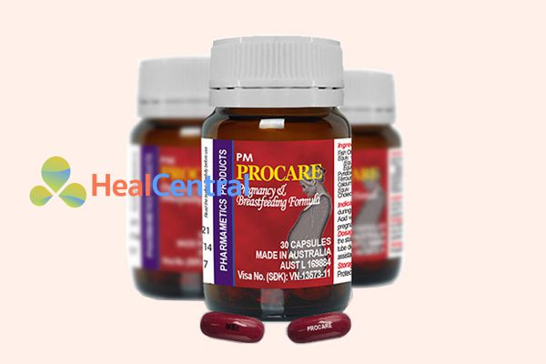nên bắt đầu sử dụng thuốc PM procare trong vòng 1 tháng trước khi có thai.
