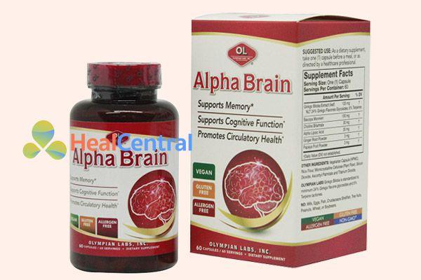 Alpha Brain Olympian labs nổi tiếng trong việc điều trị chứng Alzheimer