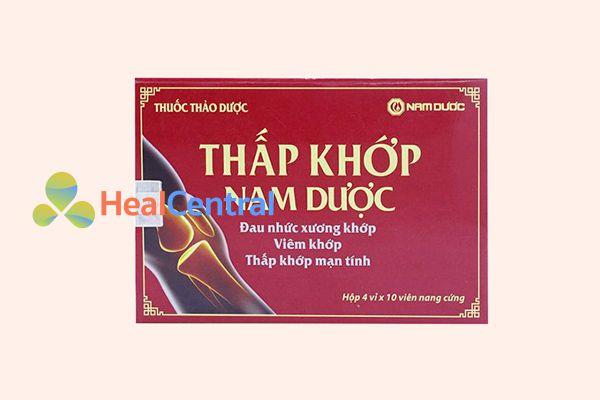 Thấp khớp Nam Dược được sản xuất và phân phối bởi công ty TNHH Nam dược - Việt Nam