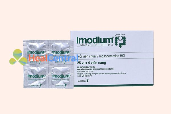 Thuốc trị tiêu chảy Imodium 2mg
