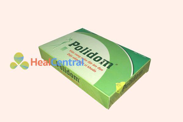 Thuốc đặt phụ khoa Polidom.