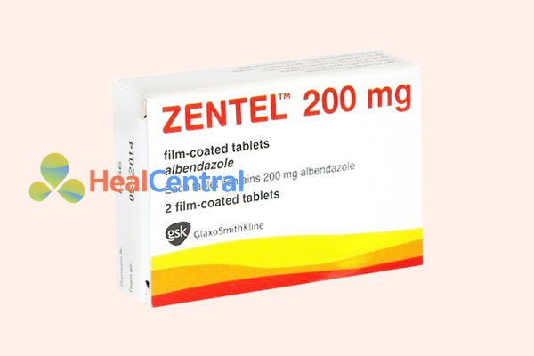 Thuốc tẩy giun Zentel 200mg được dùng để tẩy giun định kỳ