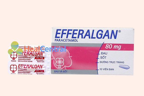 Thuốc Efferalgan 80mg dạng viên đặt