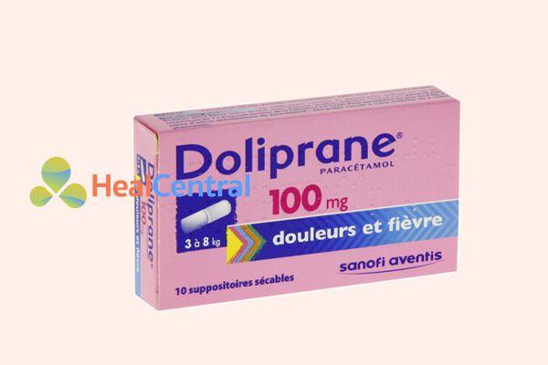 Thuốc đặt hạ sốt Doliprane