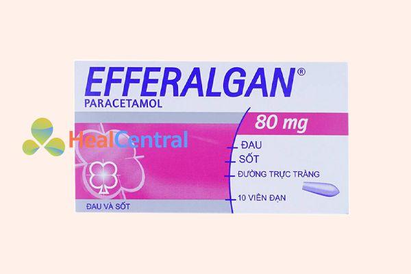 Thuốc đặt hạ sốt cho trẻ em Efferalgan 80mg