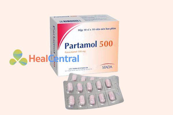 Thuốc hạ sốt Partamol 500