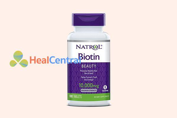 Thuốc mọc tóc Natrol Biotin