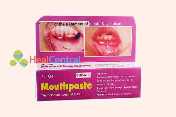 Gel bôi nhiệt miệng Mouthpaste có dạng tuýp