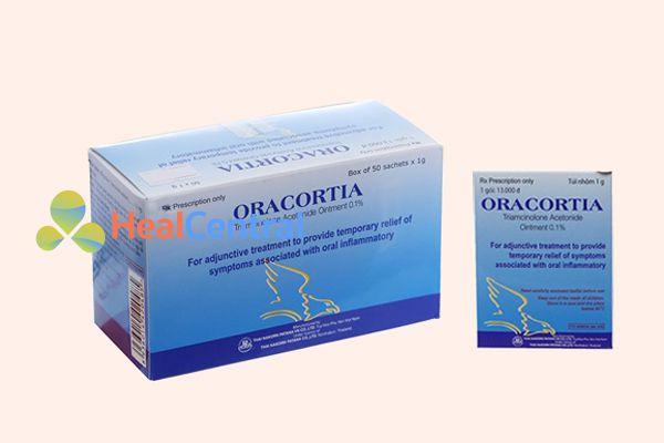 Thuốc bôi nhiệt miệng Oracortia