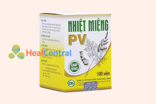 Thuốc nhiệt miệng PV còn giúp thanh nhiệt, chống viêm hiệu quả